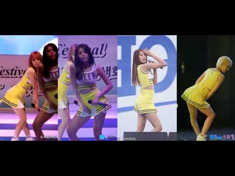 AOA   Miniskirt 짧은 치마 Fancam Combined Compilation Cheerleader 60fps 1080p 60fps