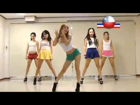 PSY   GANGNAM STYLE  Cover Sexy Korean GIRLS Dancing