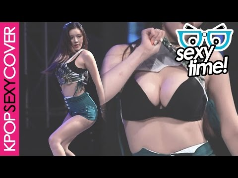 Laysha's Hyeri shows her #BB on stage! [SEXY TIME] Hot Korean Kpop Girl Fancam
