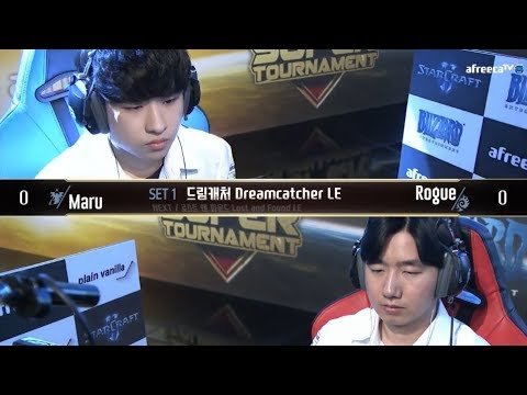[2018 GSL SuperTournament II] Ro.16 Day1 Match1 Maru vs Rogue