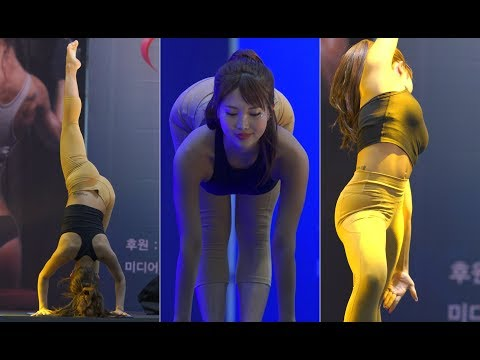 [4K] 170609 #14 정하음 – 요가 [K-Training Week 월드 핏스타 코리아]【직캠/fancam】