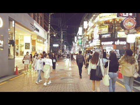 【4K 60FPS】 강남 식당골목 밤거리 걷기 Gangnam night Walking Seoul