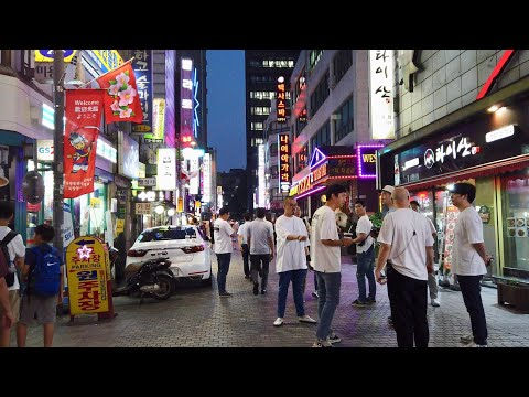 Nightwalk Bukchangdong backstreets│Seoul in Korea│4K 60fps POV