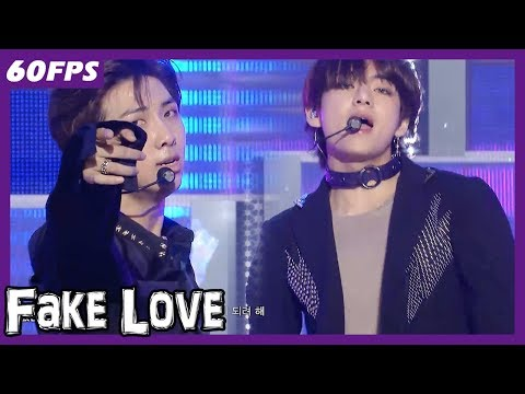 60FPS 1080P | BTS – Fake Love, 방탄소년단 – Fake Love Show Music Core 20180526