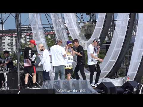 [Fancam] BEAST 150809 – YeY morning rehearsal (2015 Korea Music Festival)