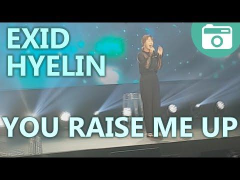 20170708 | Hyelin (EXID) – You Raise Me Up [FEEL KOREA – LONDON 2017] [FANCAM]