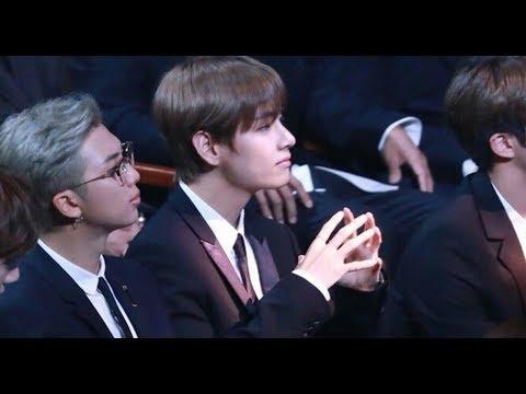 [FANCAM]BTS reaction to Red velvet speech@korean popular culture and entertainement awards 2018