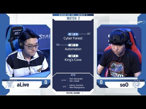 [2019 GSL S2] Ro.32 Group D Match2 aLive vs soO