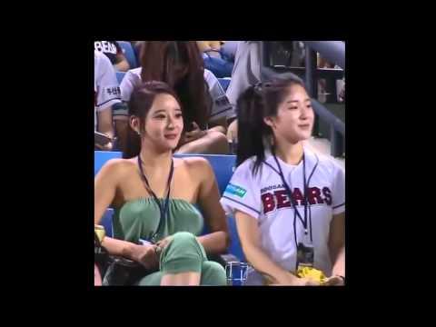 Hot Korean Girls Watch Baseball Match Without Bra | #ShowYourBikini