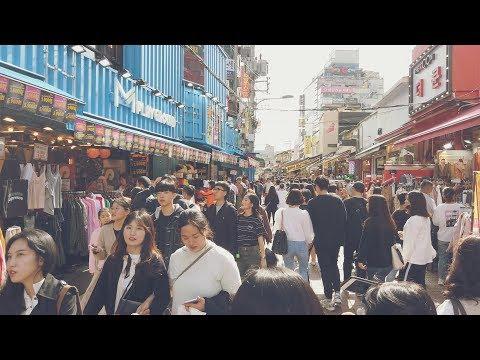 홍대 시네마틱 4K 60FPS Hongdae Cinematic DJI Osmo Pocket VLOG Seoul Walklig ASMR