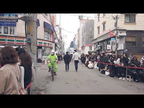 Garosu-gil Walking Seoul Korea 4K 60fps 가로수길
